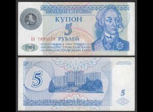 Transnistrien - Transnistria 50000 auf 5 Rublei (1994)1996 Pick 27 aUNC (1-)