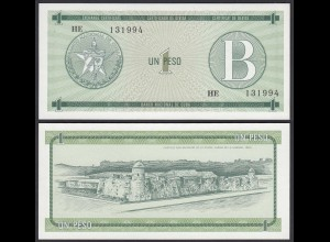 Kuba - Cuba 1 Peso Foreign Exchange Certificates 1985 Pick FX6 UNC (1) (25713