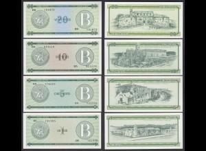 Kuba - Cuba 1,5,10,20 Peso 1985 Pick FX6,7,8,9 UNC (1) Foreign Exchange Certificates