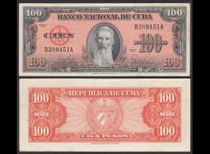 Kuba - Cuba 100 Peso 1959 Pick 93 VF (3) (25728