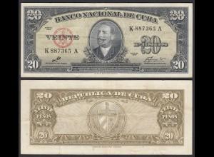 Kuba - Cuba 20 Peso 1960 Pick 80c VF (3) (25731
