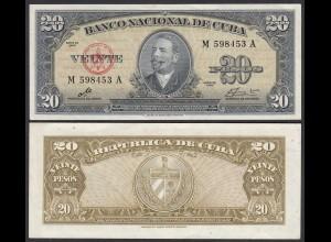 Kuba - Cuba 20 Peso 1960 Pick 80c XF (2) (25732