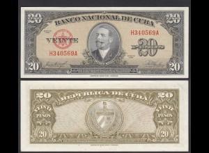Kuba - Cuba 20 Peso 1958 Pick 80b aUNC (1-) (25733