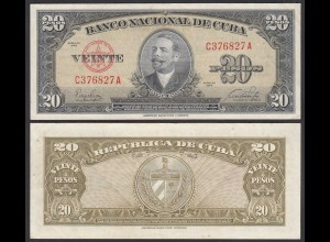 Kuba - Cuba 20 Peso 1949 Pick 80a VF (3) (25734