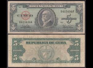 Kuba - Cuba 5 Peso 1960 Pick 92a F (4) (25736