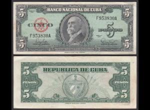 Kuba - Cuba 5 Peso 1960 Pick 92a VF (3) (25737
