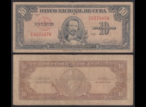 Kuba - Cuba 10 Peso 1949 Pick 77a VG/F (4/5) (25738