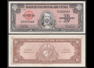 Kuba - Cuba 10 Peso 1960 Pick 79b VF/XF (2/3) (25739
