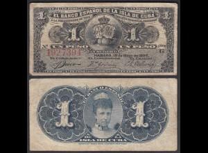 Kuba - Cuba 1 Peso 1896 Pick 47a F (4) (25744