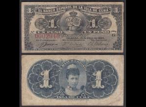 Kuba - Cuba 1 Peso 1896 Pick 47a F (4) (25745