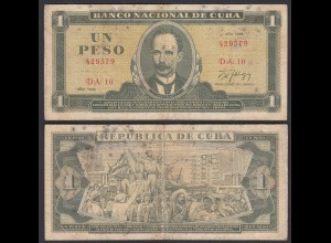 Kuba - Cuba 1 Peso Banknote 1986 Pick 102c F (4) (25747