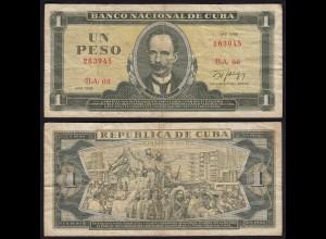 Kuba - Cuba 1 Peso Banknote 1988 Pick 102d F/VF (3/4) (25748
