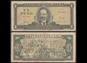 Kuba - Cuba 1 Peso Banknote 1972 Pick 102a F (4) (25749