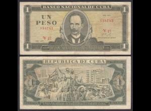 Kuba - Cuba 1 Peso Banknote 1972 Pick 102a F (4) (25750
