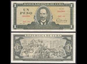 Kuba - Cuba 1 Peso Banknote 1981 Pick 102b VF (3) (25752
