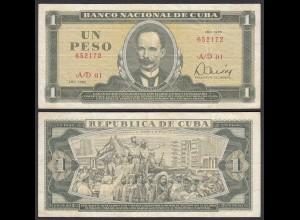 Kuba - Cuba 1 Peso Banknote 1985 Pick 102b VF (3) (25753