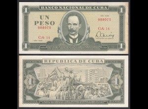 Kuba - Cuba 1 Peso Banknote 1982 Pick 102b VF+ (3+) (25754