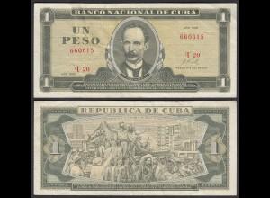 Kuba - Cuba 1 Peso Banknote 1968 Pick 102a VF- (3-) (25755