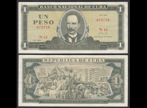 Kuba - Cuba 1 Peso Banknote 1969 Pick 102a VF+ (3+) (25758