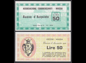 Italien - Italy 50 Lire BUONO D'ACQUISTO ASCOM MASSA 1976 UNC (1) (25801
