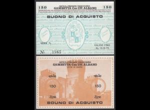 Italien - Italy 150 Lire BUONO DI ACQUISTO TABACCHERIA 1976 aUNC (1-) (25803