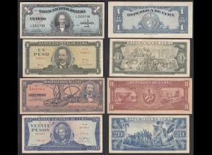 Kuba - Cuba - 1,1,10,20 Pesos 1960-87 F/VF (3/4) (25810