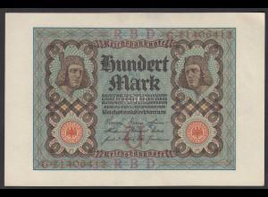 Reichsbanknote - 100 Mark 1920 UDR U Ro 67b Pick 69 ca. aUNC (1-) (25818