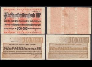 Essen Stadt 500.000 + 5 Millionen Mark 1923 Notgeld F (4) (25823