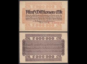 Dortmund Stadt 5 Millionen Mark 1923 Notgeld Starnote VF (3) (25825