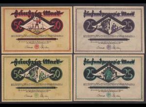 Dortmund 4 Stück Notgeld 1922 ca. VF+ (3+) ( 25835