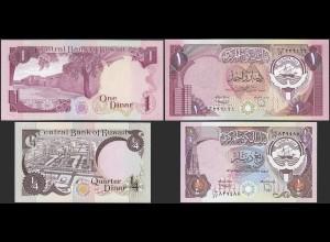 Kuwait - 1/4 + 1 Dinars Banknoten (1968) UNC (1) (14161