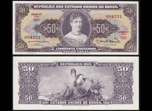 Brasilien - Brazil 50 Cruzaros (1963) Pick 179a aUNC (1-) sig.12 (14129
