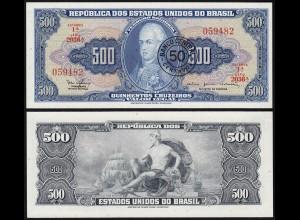 BRASILIEN - BRAZIL 50 Centavos a. 500 Cruzeiros (1986) UNC (1) Pick 186a (14127