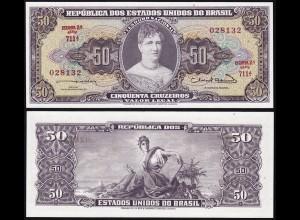 Brasilien - Brazil 50 Cruzado (1963) Pick 179 UNC (1) Sig.12 (14124