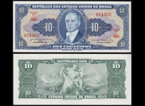 Brasilien - Brazil 10 Cruzados 1963 Pick 167b sig.12 UNC (1) (14120