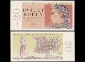 Tschechoslowakei - CZECHOSLOVAKIA 20 Korun 1949 Pick 70b UNC (1) (14049