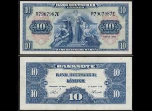 BDL - 10 Deutsche Mark 22-8-1949 Ros. 258 gutes VF (3) (15088