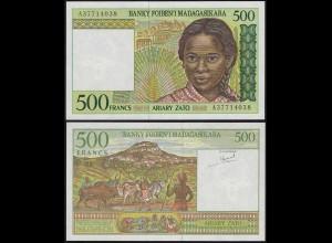 MADAGASKAR - MADAGASCAR 500 Francs (1994) Pick 75 a UNC (1) (14374