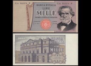 Italien - Italy 1000 Lire Banknote 1969 Pick 101a UNC (1) (14375