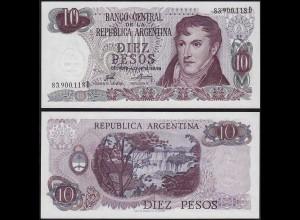 ARGENTINIEN / ARGENTINA 10 Pesos (1973-76) Pick 295 UNC (1) (14378