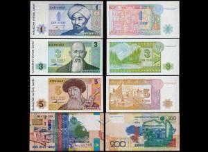 Kasachstan - Kazakhstan 4 Stück Banknoten 1993/06 UNC (1) (14383