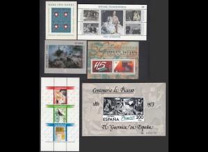 6 Stück schöne Blocks Europa Picasso Schweden NL CH usw ** (25891