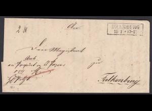 Preussen DRAMBURG R2 Paketbegleitbrief 1851 n. FALKENBURG (24582