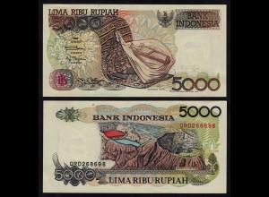 INDONESIEN - INDONESIA 5000 RUPIAH Banknote 1992/1999 Pick 130h XF (2)