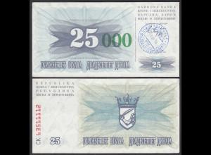 BOSNIEN - BOSNIA 25.000 Dinara 15.10.1993 XF (2) Pick 54a (24345