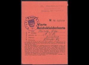 4. Reichskleiderkarte 3.Reich 1944 Stadt Duisburg (23144