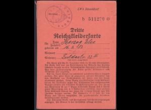 3. Reichskleiderkarte 3.Reich 1942 Stadt Duisburg (23145