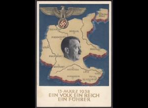 AK NS Militaria Propagandakarte 3.Reich 1938 Ga.P268 Swastika (22910