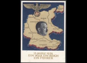 AK NS Militaria Propagandakarte 3.Reich 1938 Ga.P268 Swastika SST (22908