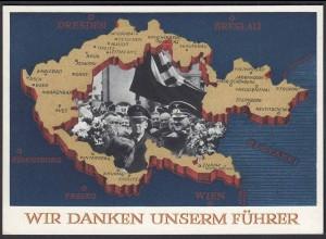 AK NS Militaria Propagandakarte 3.Reich 1938 Ga.P275 Sudetenland (22912